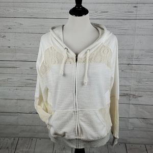 Like new Bke Lounge lace hooded sweater